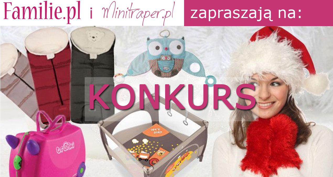 Konkurs zatrakcyjnymi nagrodami - Familie.pl iMinitraper.pl